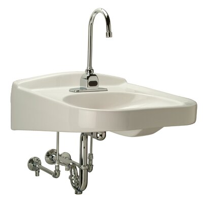 Wheelchair ADA Bathroom Sink with Half Pedestal - Z532