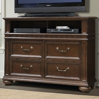 Sussex County 4 Drawer Media Chest