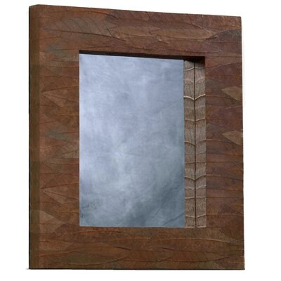 Mahogany Leaf Rectangle Mirror