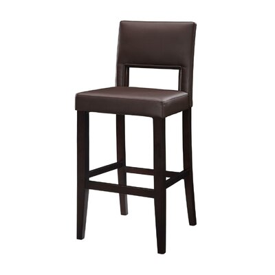 "Linon 30"" Vega Bar Stool in Espresso"