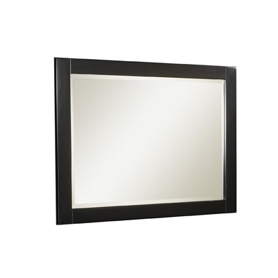 Linon Anna Mirror in Distressed Antique Black