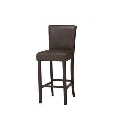 Bonded Leather Counter Stool in Espresso