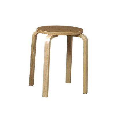 Linon Bentwood Short Stacking Counter/Bar Stool in Natural