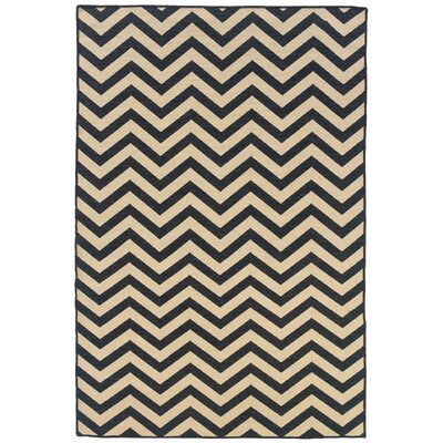 Linon Salonika Grey Chevron Rug