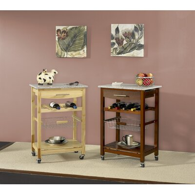 Linon Ledgeview Kitchen Cart with Granite Top