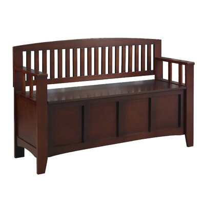 Linon Gray Cynthia Solid Wood Storage Entryway Bench | Wayfair