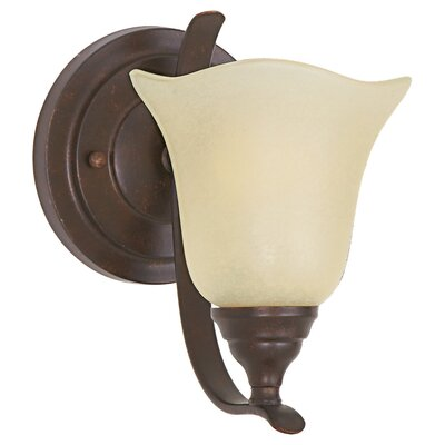 Feiss Morningside 1 Light Bath with Snow Shade