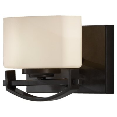 Feiss Bleeker Street One Light Wall Sconce in Oil Rubbed Bronze