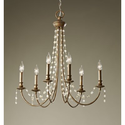 Feiss Aura 6 Light Chandelier