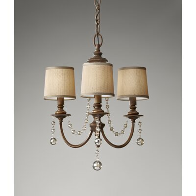 Feiss Clarissa 3 Light Chandelier