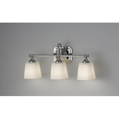 Feiss Concord Three Light Bath Vanity in Polished Nickel