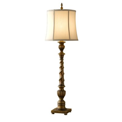 Feiss 37&quot; Park Ridge One Light Table Lamp in Silver Leaf Sienna