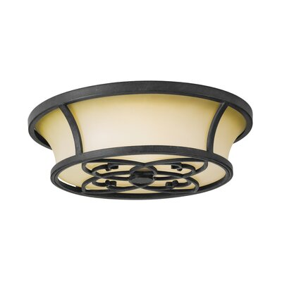 Feiss King's Table 3 Light Flush Mount