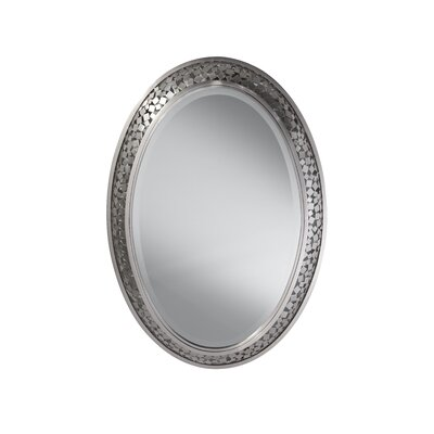 Feiss Zara Mirror in Brushed Steel Mirror