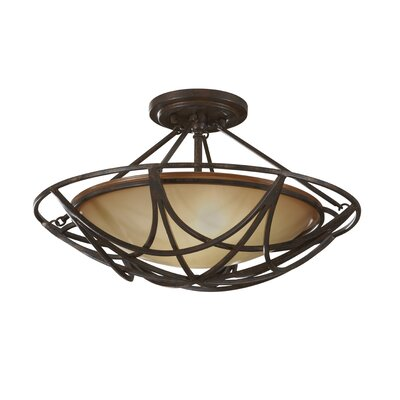 Feiss El Nido 2 Light Semi Flush Mount