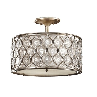 Feiss Lucia 3 Light Semi Flush Mount