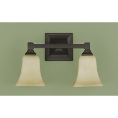 Feiss American Foursquare 2 Light Bath Vanity Light