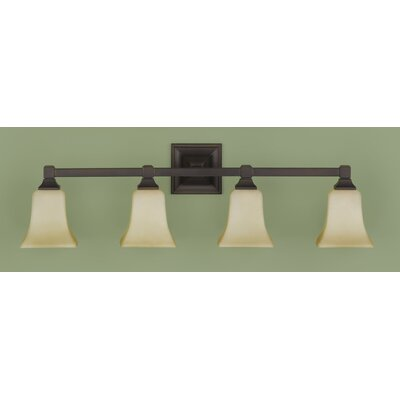 Feiss American Foursquare 4 Light Bath Vanity Light