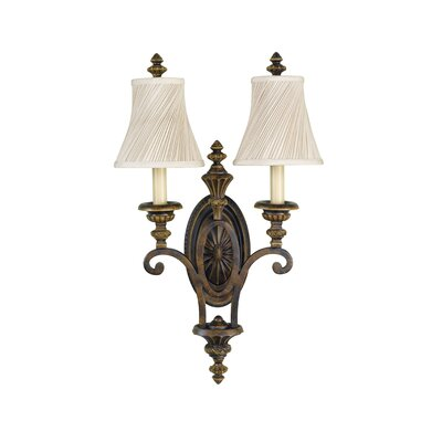 Feiss Edwardian 2 Light Candelabra Wall Sconce