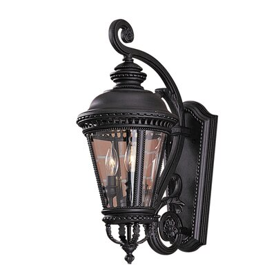 Feiss Castle  Wall Lantern in Black