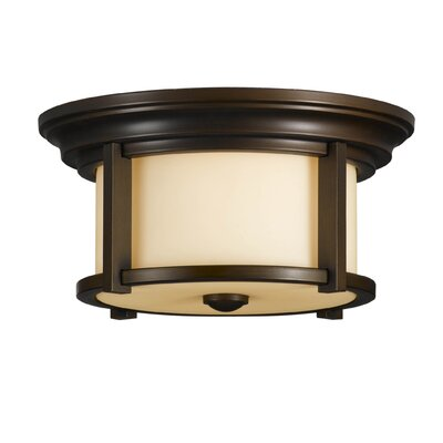 Feiss Merrill 2 Light Outdoor Flush Mount