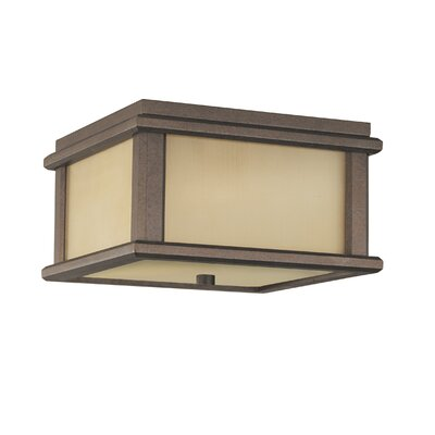 Feiss Mission Lodge Flush Mount Outdoor Lantern
