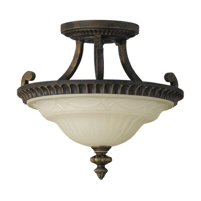 Feiss Drawing Room 2 Light Semi Flush Mount
