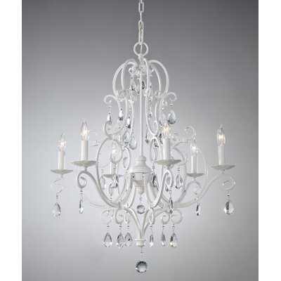 Chateau Blanc 6 Light Chandelier