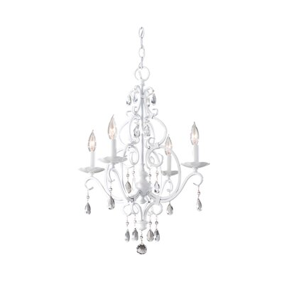 Feiss Chateau Blanc 4 Light Mini Chandelier
