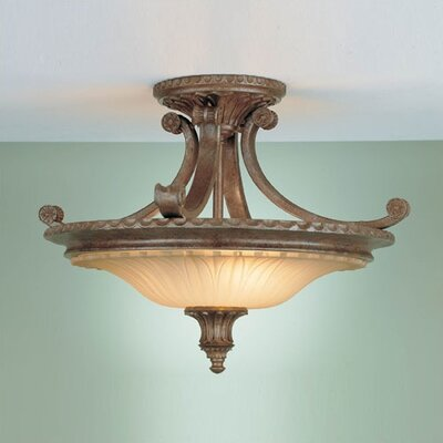 "Feiss Stirling Castle 18.75"" Semi Flush Mount"