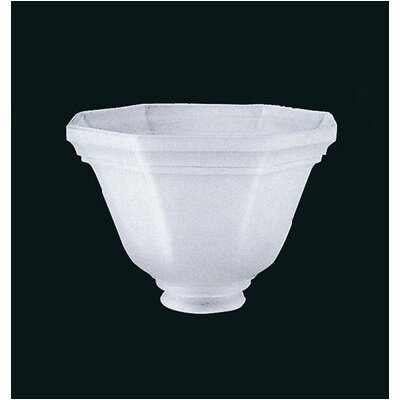 Glass Shoppe White Bowl Shade