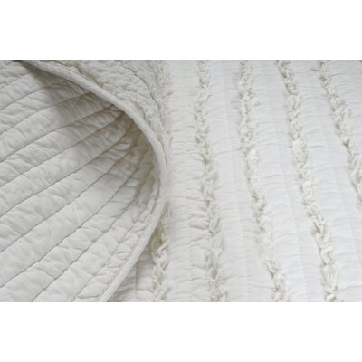 Greenland Home Fashions Ruffled 3 Piece Quilt Set