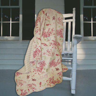 Coral Quilted Cotton Throw
