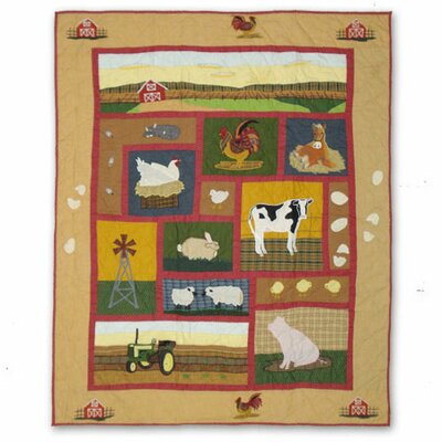 Patch Magic Barnyard Cotton Throw Quilt