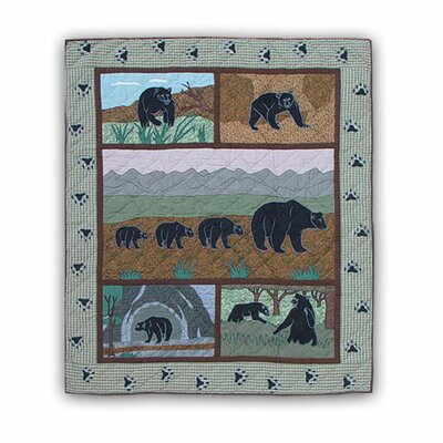 Patch Magic Bear Country Cotton Throw Quilt