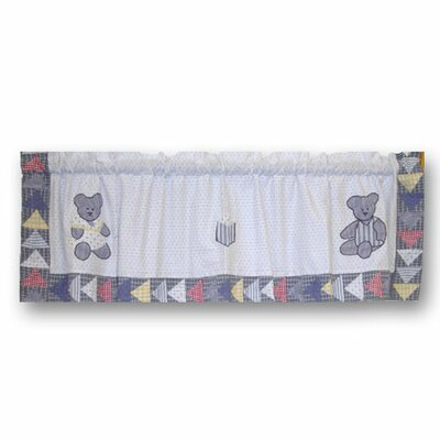 Patch Magic Blue Teddy Bear Cotton Curtain Valance