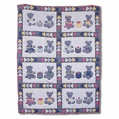 Patch Magic Teddy Bear Cotton Throw Quilt