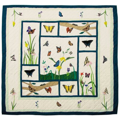 Patch Magic Butterfly Kisses Twin Quilt