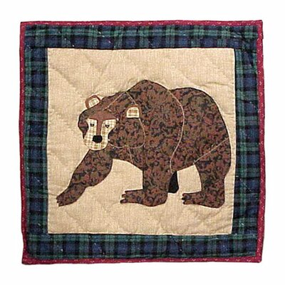 Cabin Bear Toss Pillow
