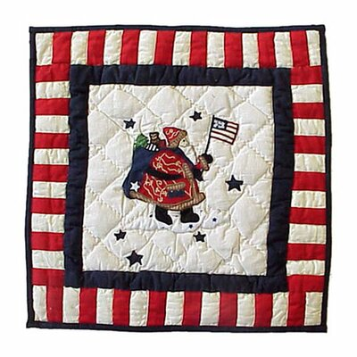 Patch Magic Colonial Santa Toss Pillow