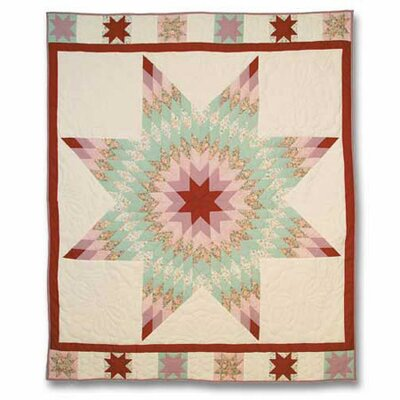Patch Magic Floral Star Throw Quilt
