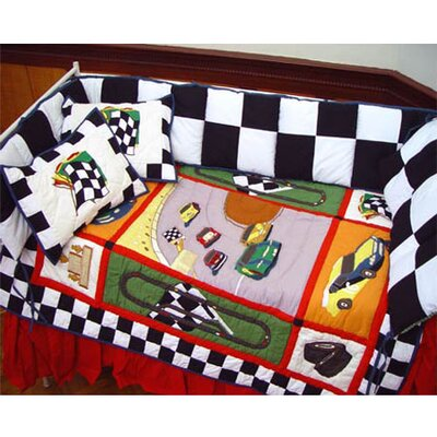 Patch Magic Racecar Crib Bedding Collection
