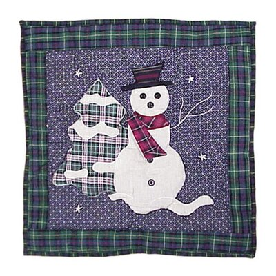 Patch Magic Snowman Toss Pillow