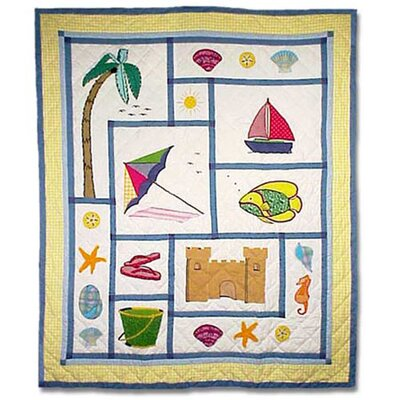 Summer Fun Cotton Throw Quilt
