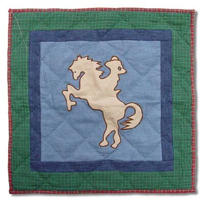 Patch Magic Western Santa Rider Toss Pillow