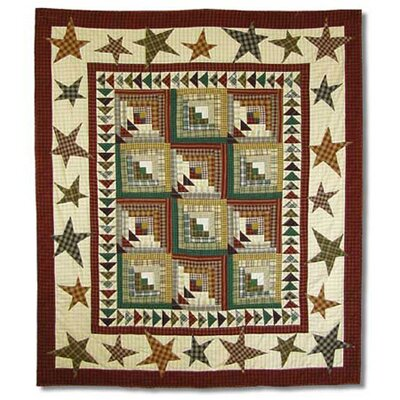 Patch Magic Woodland Star And Geese Cotton Throw Quilt