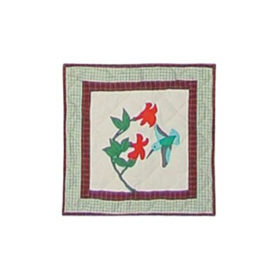 Hummingbird Garden Toss Pillow
