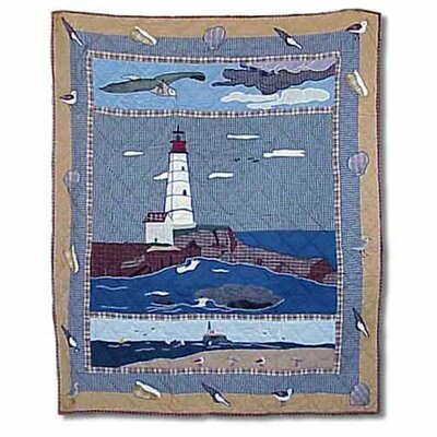 Patch Magic Lighthouse By Bay Cotton Throw Quilt