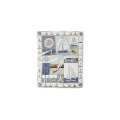 Patch Magic Nautical Cotton Throw Quilt