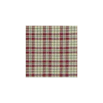 Tan and Red Plaid Euro Sham